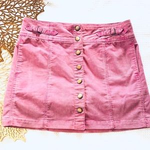 Gap Fall 2004 Vintage Corduroy Pink Mini Skirt